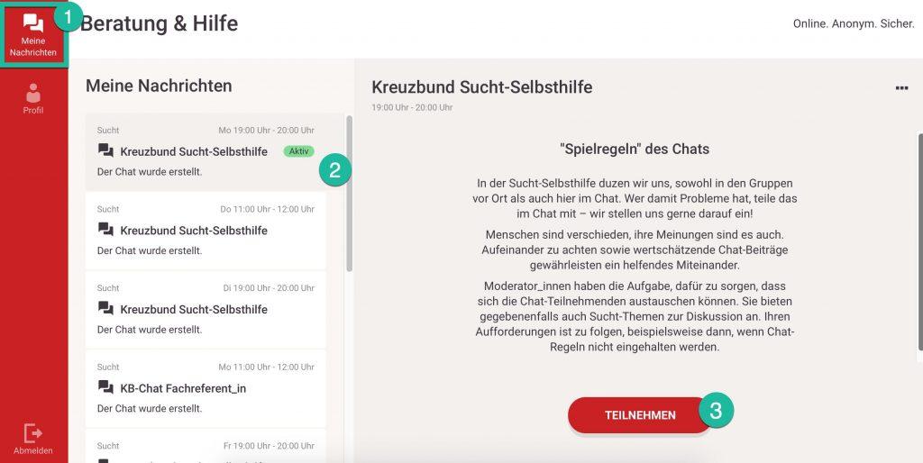 Chat-screenshot-anleitung